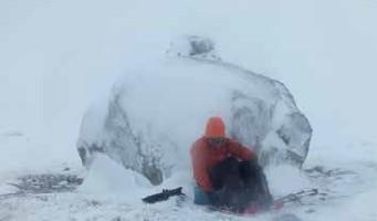 Eiskalte Pause zwischen Dyranut und Trondsbu (grrrrrr)