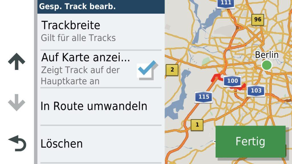 Anzeige auf Karte aktiviert