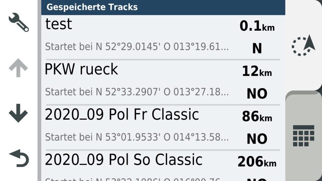 Track Liste